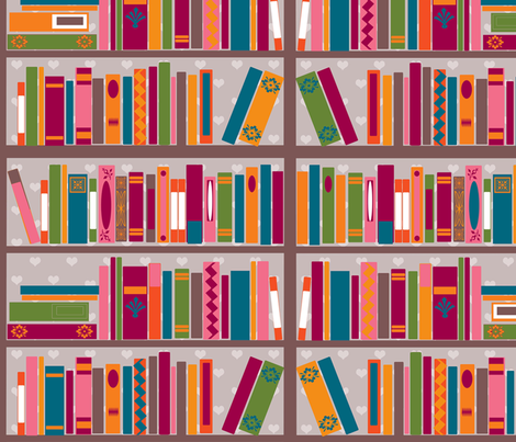 bookshelflove fabric by jessicabarrah on Spoonflower - custom fabric