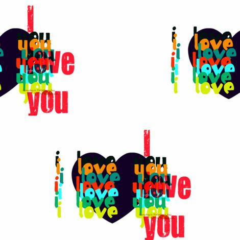 I love you by evandecraats march 28, 2012 fabric by _vandecraats on Spoonflower - custom fabric
