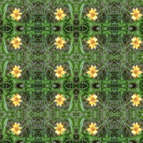 yellow flower four square fabric by kari's_place on Spoonflower - custom fabric