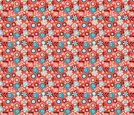 Flower Ditsy fabric by bora on Spoonflower - custom fabric