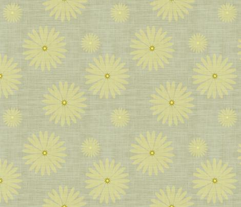 Yellow Star of Daisy fabric by brainsarepretty on Spoonflower - custom fabric