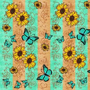Sunflower Green Monarch Memories
