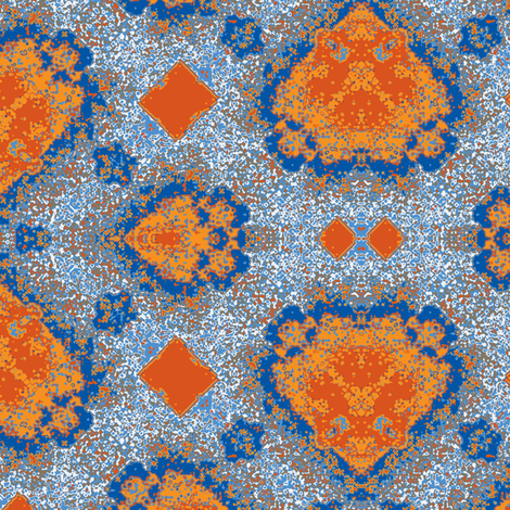 Sunburned Space Invaders fabric by susaninparis on Spoonflower - custom fabric