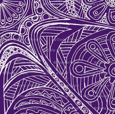 Just Doodling Purple