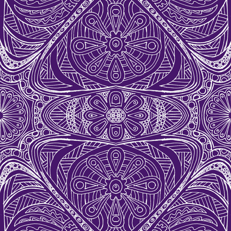 Just Doodling Purple fabric by thats_artrageous on Spoonflower - custom fabric