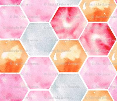 Texas Modern Honeycomb Pink