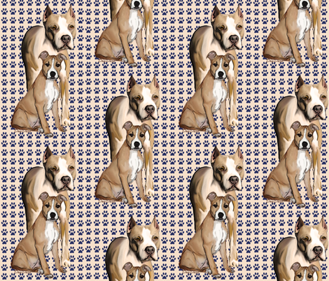 American Staffordshire  fabric by dogdaze_ on Spoonflower - custom fabric