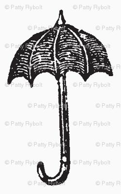 Rainy Days Vintage Umbrella (black & white)