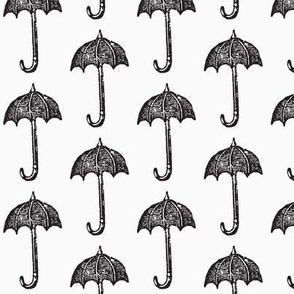 Rainy Days Vintage Umbrella (black & white)