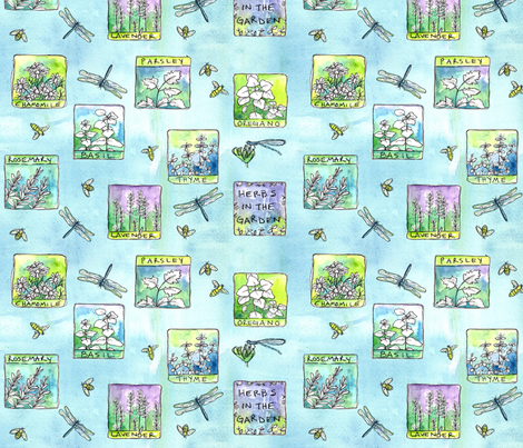 Herb Garden fabric by countrygarden on Spoonflower - custom fabric