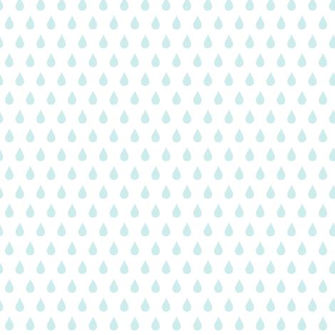 Rainy Days Mini (lt. aqua) fabric by pattyryboltdesigns on Spoonflower - custom fabric