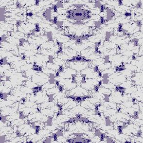Diamond weave white on lilac ground
