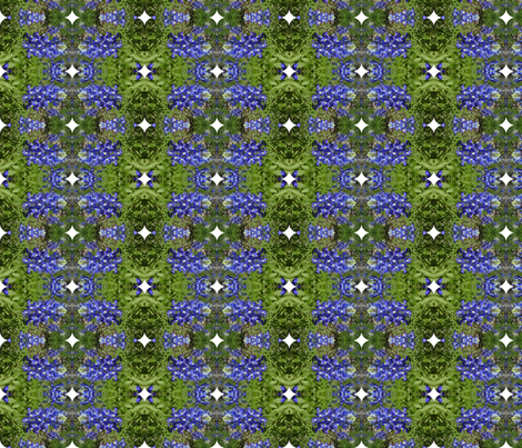 blue bonnets with white diamonds fabric by kari's_place on Spoonflower - custom fabric
