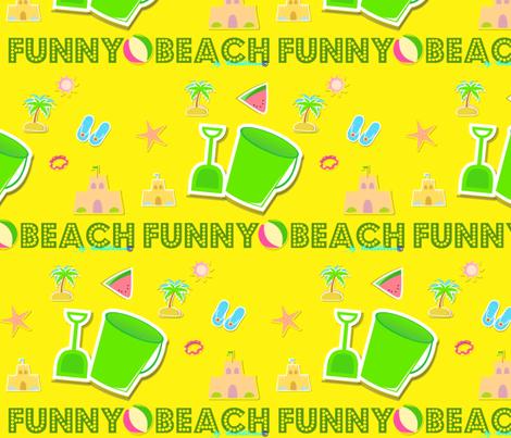 Funny beach yellow  by evandecraats__March_27__2012 fabric by _vandecraats on Spoonflower - custom fabric