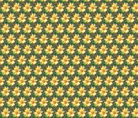 yellow flower apron fabric by kari's_place on Spoonflower - custom fabric