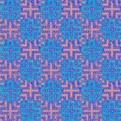 Cross - Blue on Pink (Checker Graph)