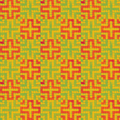 Cross - Tangerine and Green (Checker Graph)