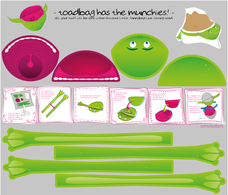 - toadbag has the munchies! - fabric by megamoniek on Spoonflower - custom fabric
