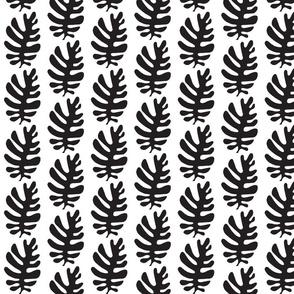 Funky Leaf ! (black & white)