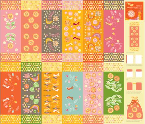 1 Dozen Party Loot Bags - Pheasant Garden fabric by kayajoy on Spoonflower - custom fabric