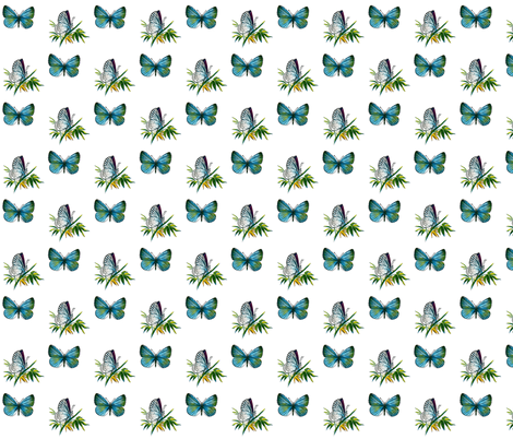Butterfly Celastrina argiolus  fabric by zephyrus_books on Spoonflower - custom fabric