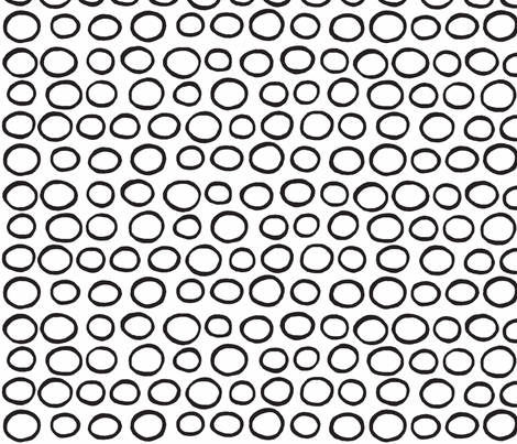 Wobbly Peas (black & white) fabric by pattyryboltdesigns on Spoonflower - custom fabric