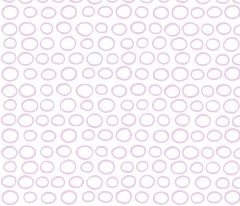 Wobbly Peas (lilac & white) fabric by pattyryboltdesigns on Spoonflower - custom fabric