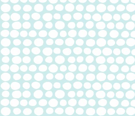 Wobbly Sweet Peas (white & light aqua blue) fabric by pattyryboltdesigns on Spoonflower - custom fabric