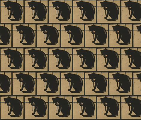 Cat fabric by zephyrus_books on Spoonflower - custom fabric