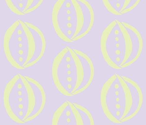 Onion & Peas (Light lime & Lilac) fabric by pattyryboltdesigns on Spoonflower - custom fabric