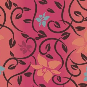 Magical Asian Flower - Pink