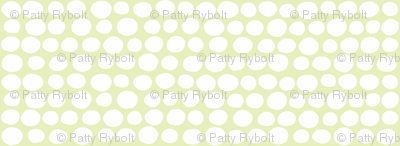 Wobbly Sweet Peas (white & light lime)