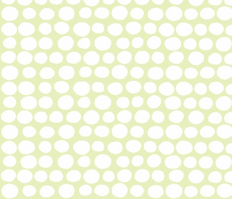 Wobbly Sweet Peas (white & light lime) fabric by pattyryboltdesigns on Spoonflower - custom fabric