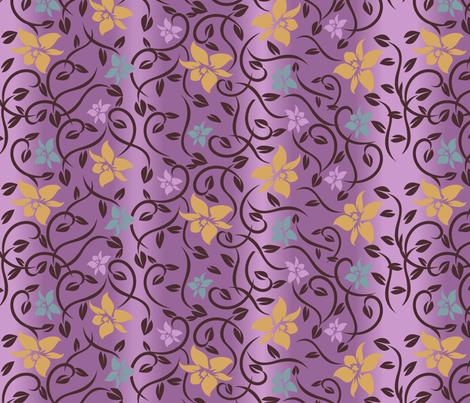 Magical Asian Flower - Purple fabric by jbhorsewriter7 on Spoonflower - custom fabric