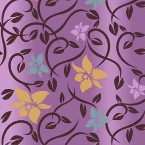 Magical Asian Flower - Purple