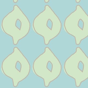 doodle dot (deep aqua, sea glass green & deep stone)