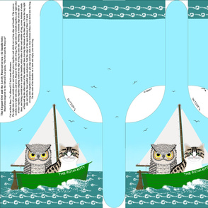 owl and pussycat at sea - small tote