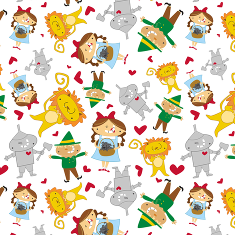 Dorothy & Friends fabric by pigandpumpkin on Spoonflower - custom fabric