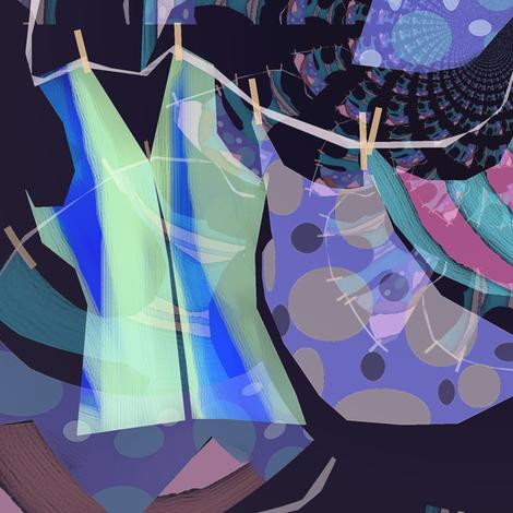 mandybeau's nightclothesline fabric by mandybeau on Spoonflower - custom fabric