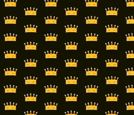 Prince and Princess Beauty black 2 by evandecraats march 28, 2012 fabric by _vandecraats on Spoonflower - custom fabric