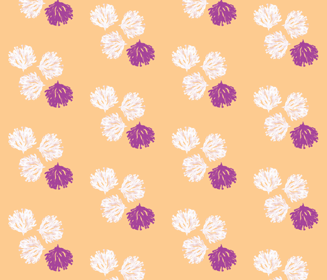 Sea weed (electric plum, light orange & white) fabric by pattyryboltdesigns on Spoonflower - custom fabric