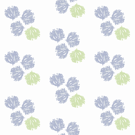 Sea Weed (lavender, lime & white) fabric by pattyryboltdesigns on Spoonflower - custom fabric