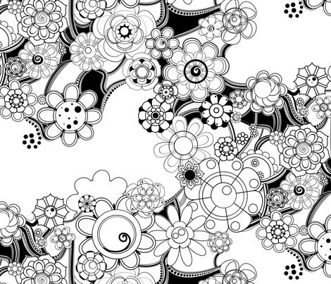 blomster fabric by annekul on Spoonflower - custom fabric