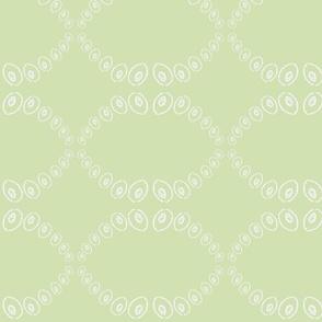 Squid Suckers (sea glass green & white)