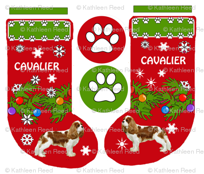 Cavalier King Charles Christmas Stocking