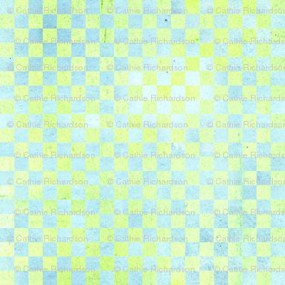 Yellow Blue Check