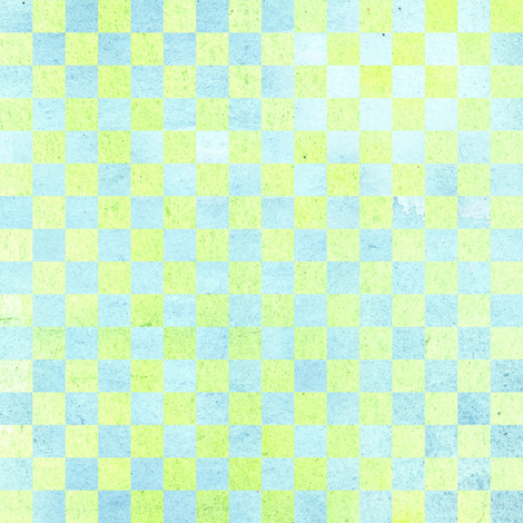 Yellow Blue Check fabric by countrygarden on Spoonflower - custom fabric