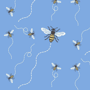 Buzzy Bees Blue