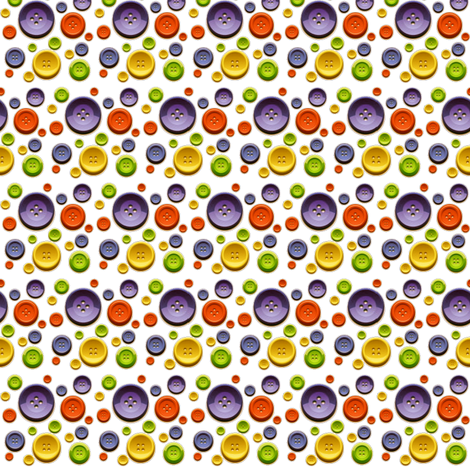 Colorful Buttons fabric by whimzwhirled on Spoonflower - custom fabric