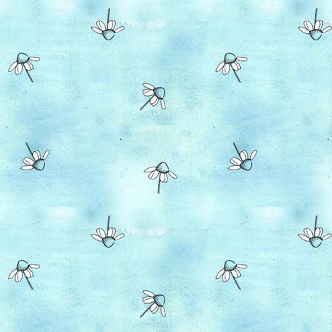 Blue Chamomile fabric by countrygarden on Spoonflower - custom fabric